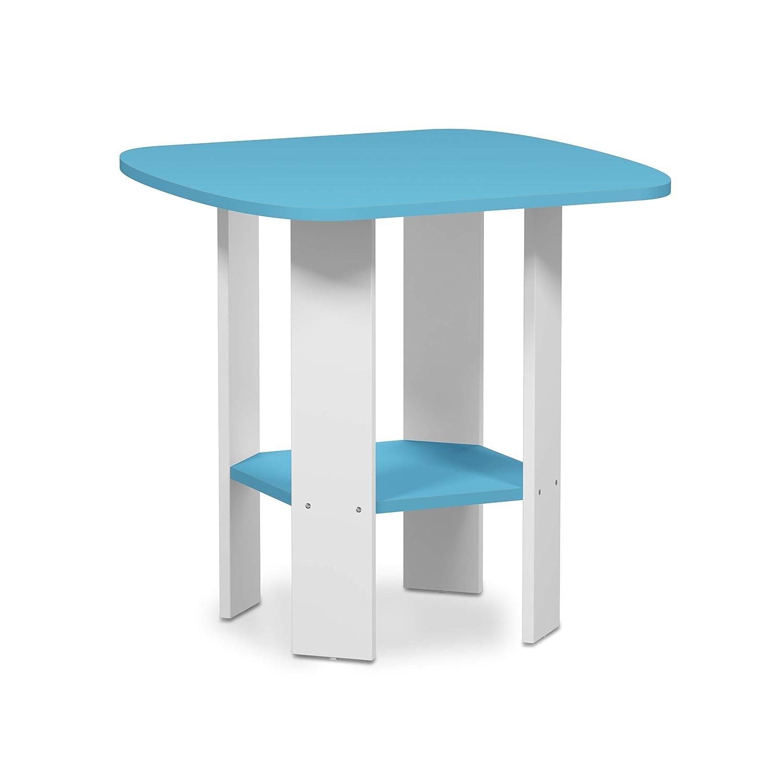 Furinno 11180LBL - Mesa Auxiliar de diseño, Color Azul Claro ...