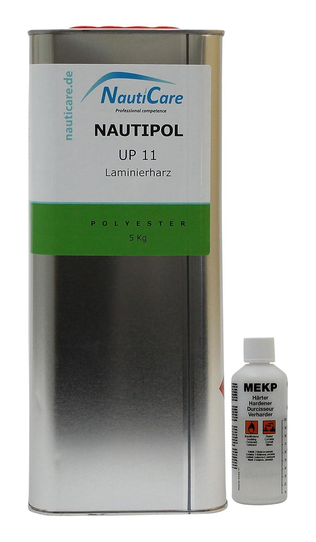 NautiCare NautiPol up 11 Laminierharz-Set 5, 1 kg - Styrolfreies Polyesterharz - Polyester Harz und MEKP Hä rter