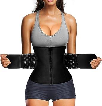 Scarboro Women Sweat Waist Trimmer Sauna Waist Trainer Belt Abdomen Slimming Body Shaper Sports Girdles Workout Belly Band Belt