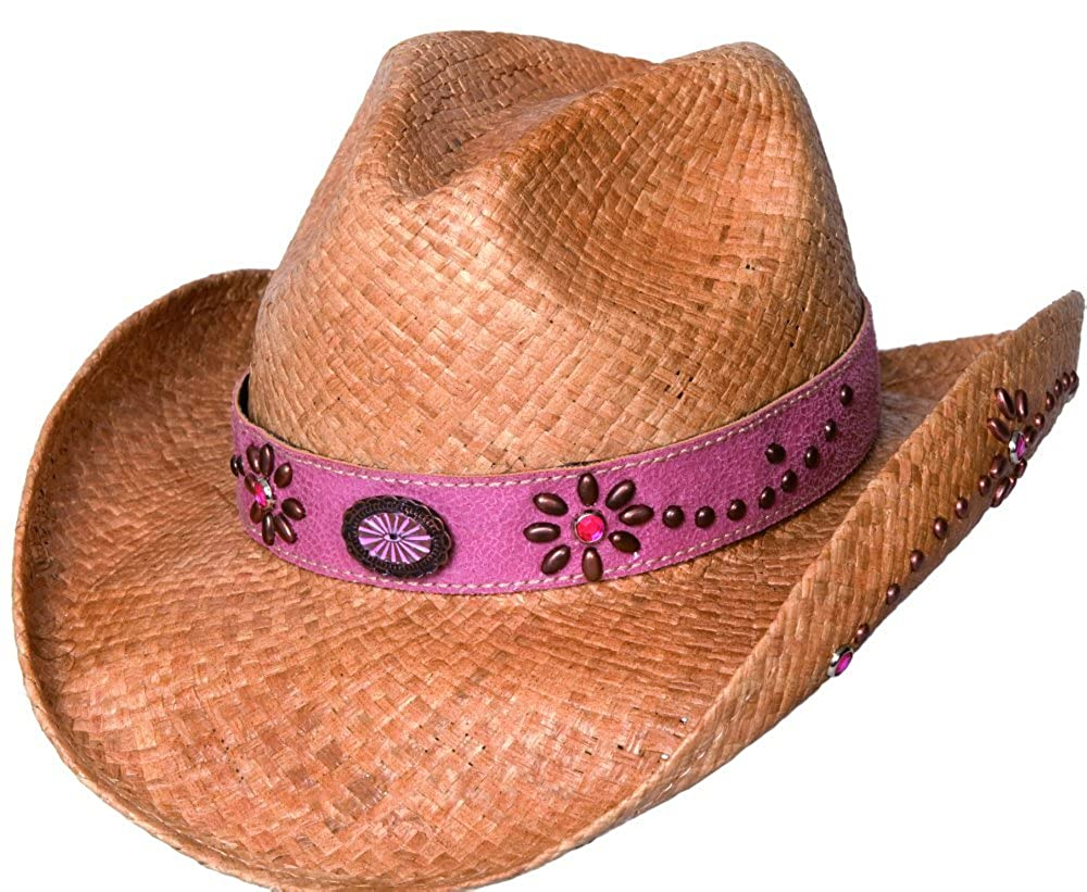 4fe1bc965446c Amazon.com  DAUGHTER OF THE WEST STRAW KIDS BULLHIDE HAT BY MONTECARLO HAT  COMPANY 2545  Clothing