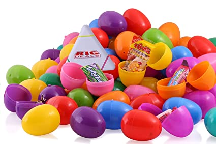amazon com 100 candy filled easter eggs surprise eggs filled with