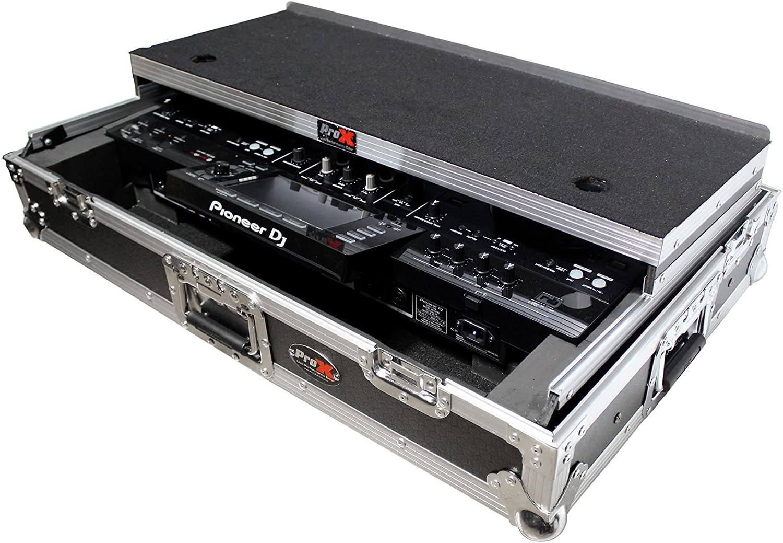 ProX XS-XDJRX2 WLT Flight Case w//Wheels+Shelf for Pioneer XDJ-RX2 DJ Controller