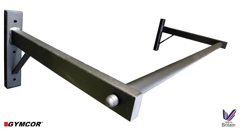 Barre de traction /à fixation murale avec mousquetons /à chaque extr/émit/é pour attacher sacs de frappe ou sangles TRX Gymcor