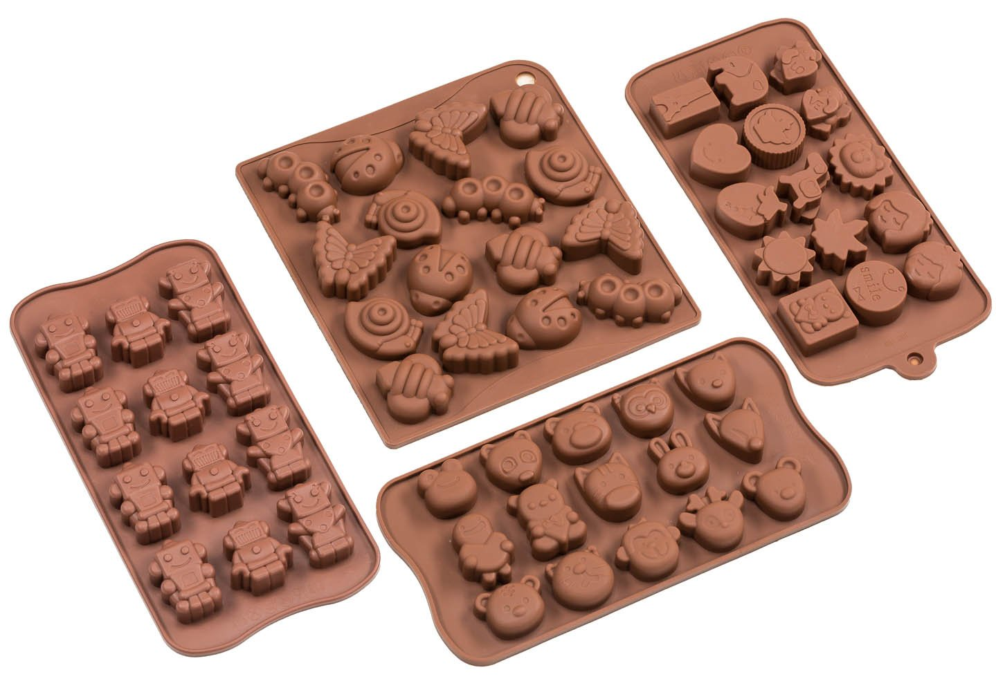 Amazon.com: Sorbus Cartoon Shaped Silicone Molds for Chocolate ...
