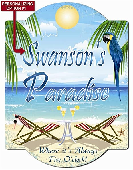 Very Amazon.com : Redeye Laserworks Paradise - Pool Deck Personalized  BH38