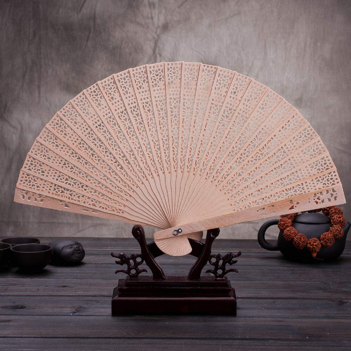Atongham Customised Wedding Wooden Fans. Wedding Fan, Birthday, Engagement Party,Engraved Fans,Personalized Wood Fan Wedding Favours by Atongham (Image #8)