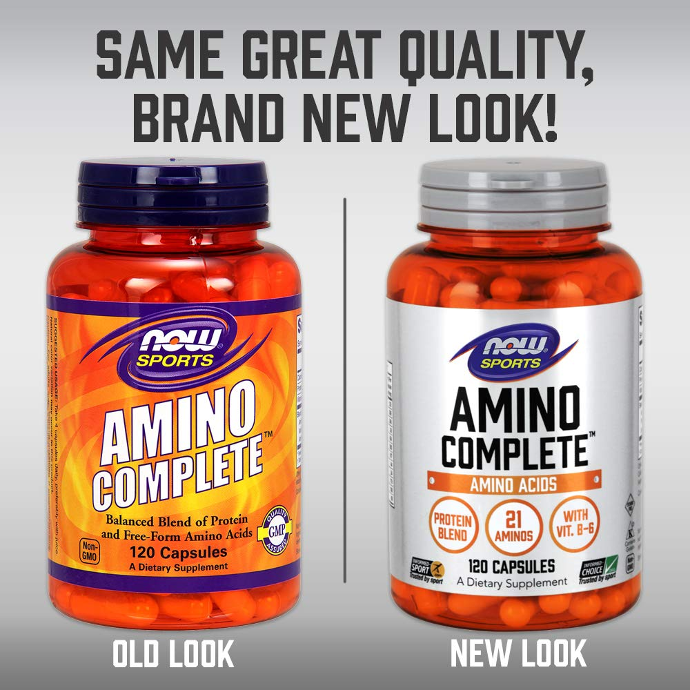 Now Foods - AMINO COMPLETE - 120 caps: Amazon.es: Alimentación y ...