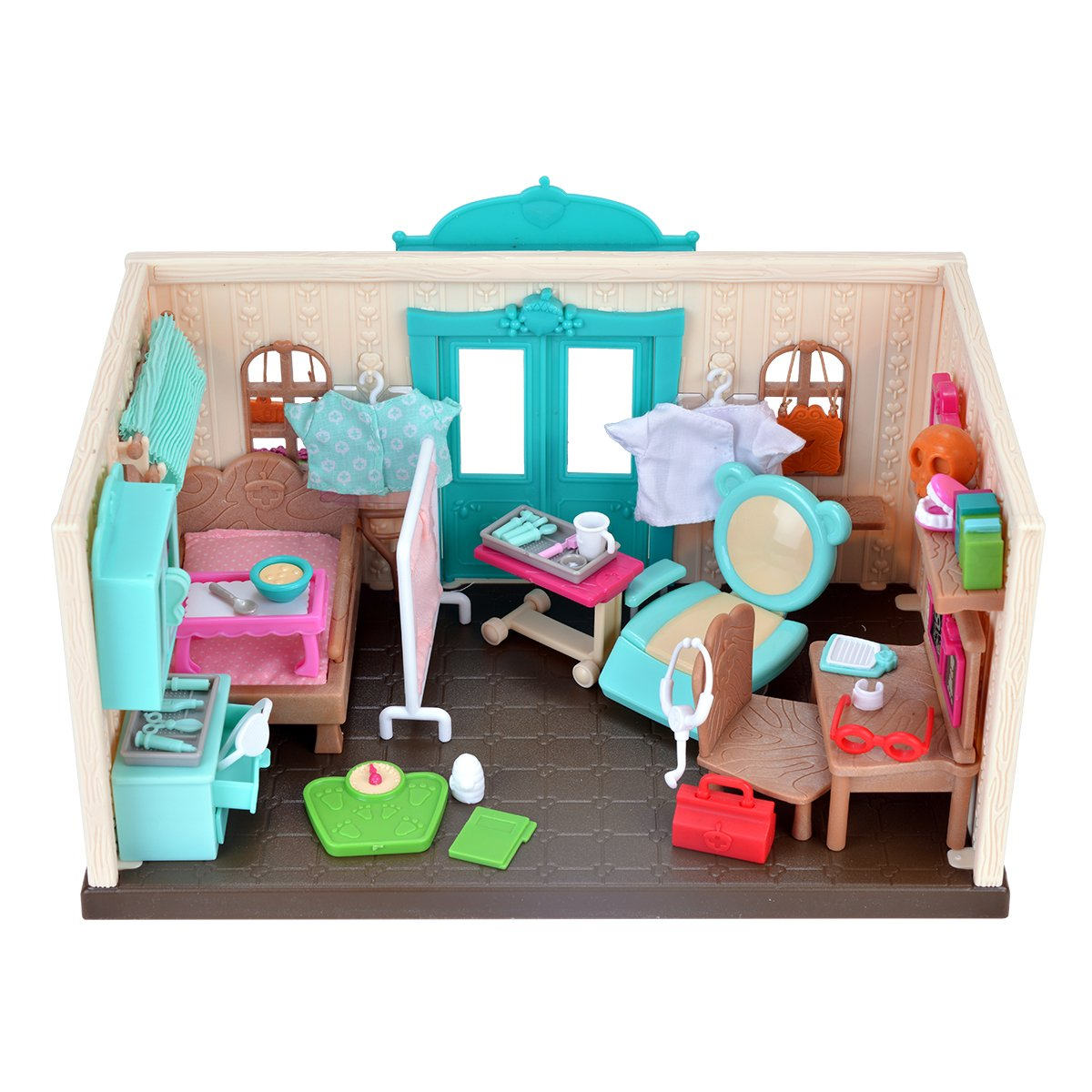 Amazon.com: Li\'l Woodzeez Walk-In Health Clinic: Toys & Games