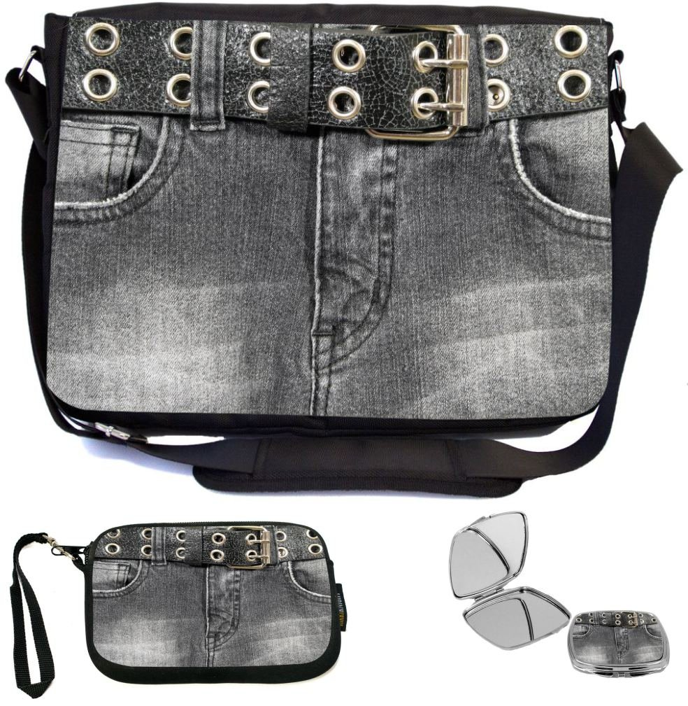 70%OFF Rikki Knight Old Denim Black Jeans Design with Leather Belt Design  COMBO Multifunction 8f975b36819d9