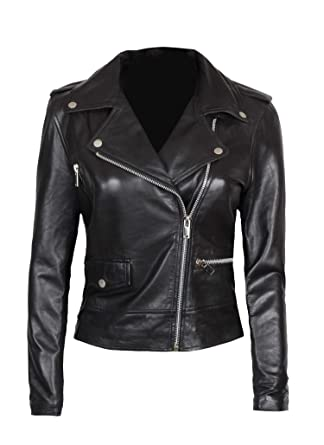 8af90932185 Womens Black Leather Jacket - Asymmetrical Black Womens Leather Jacket