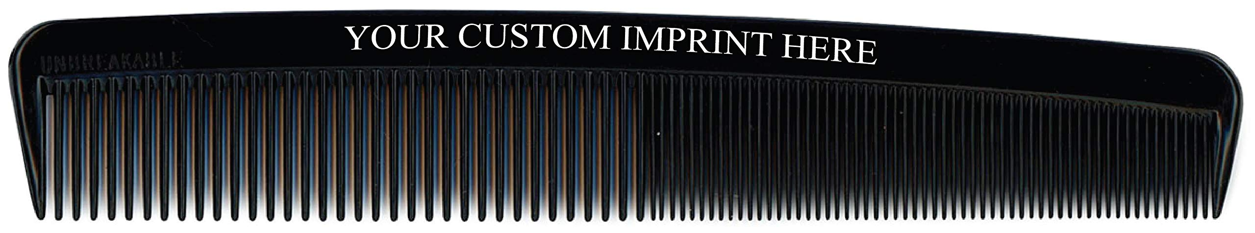 Custom Printed 7'' Unbreakable Dresser Combs (250 count) - Personalized Barber & Salon Style Hair Combs - Personalized Promotional Giveaways