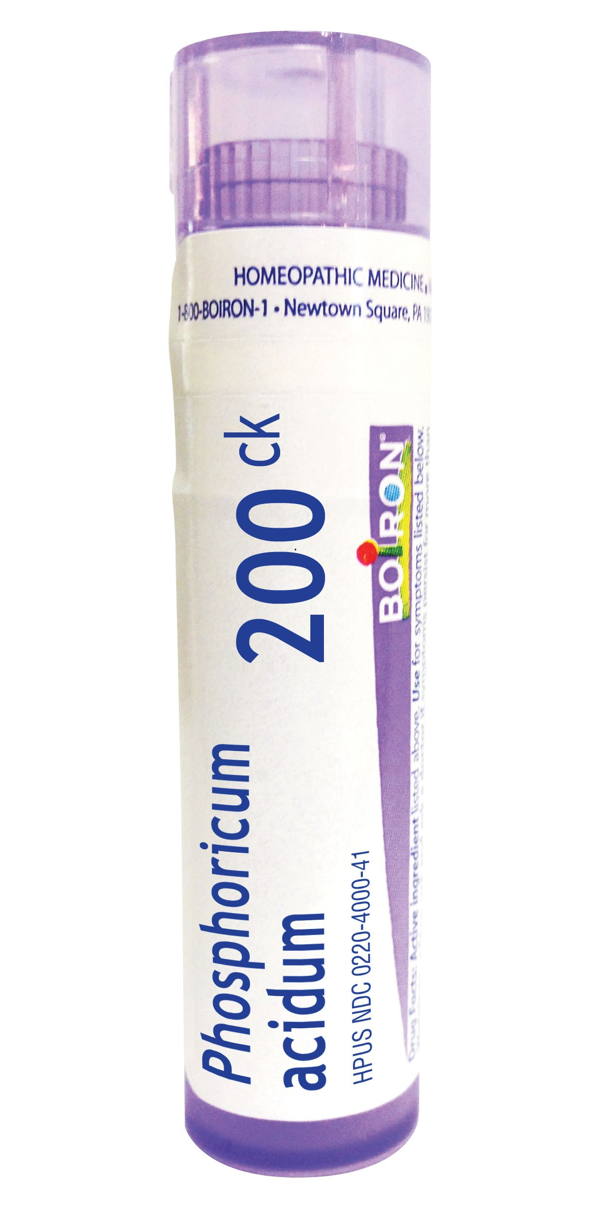Boiron Phosphoricum Acidum 200CK Homeopathic Medicine for Concentration, 80 Count