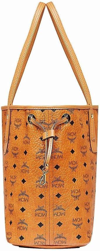 MCM Damen Reversible Shopper Project Visetos MED Cognac
