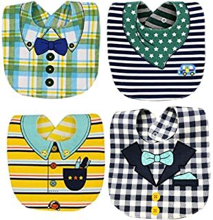 8c532939ba71 FANCYBIBS Baby Toddler Infant Boys Girls Drool Drooling Bibs Bowtie Tuxedo  Bow Neck Tie Burp Cloths