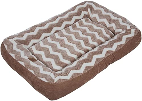 Precision Pet 24892 SnooZZy Hip as a Zig Zag Low Bumper Bed, Tan White