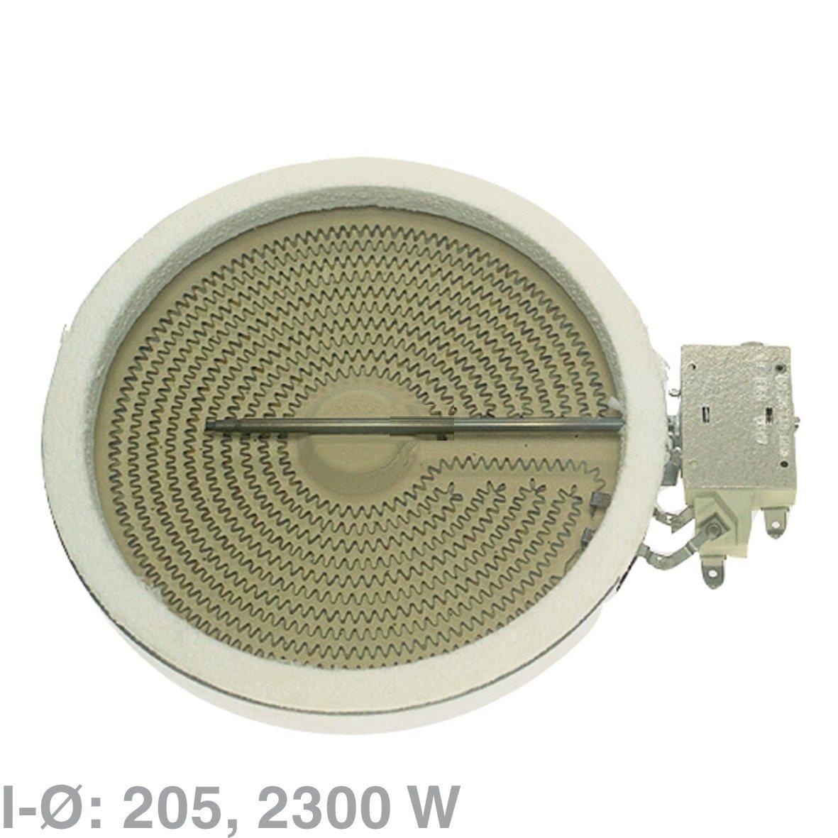 Einkreis HiLight Heizkörper Heizzone 205 mm Ø 2300W 230V Herd EGO 10.51111.004