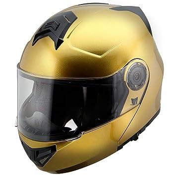 Hawk H-70 Modular Motocicleta Casco de oro macizo