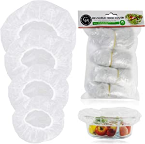Elastic Food Storage Covers,60 Pieces Reusable Bowl Covers Dish Plate Plastic Covers Fitted Bowl Covers,Transparent Food Storage Covers 4 Size (7.8in,9.8in,11.8in,13.8in)