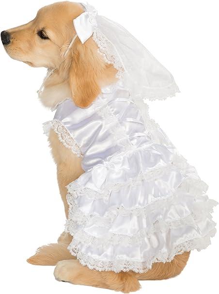 Amazon Com Rubie S Big Dog Bride Costume X Large Dog Wedding Dress Pet Supplies