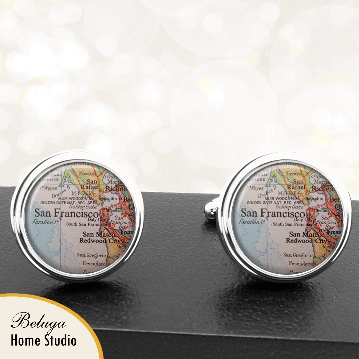 Amazon.com: Handmade Map Cuff Links San Francisco CA USA ... on state of texas houston map, state of illinois chicago map, state of washington seattle map, state of california county map, state of alabama huntsville map,