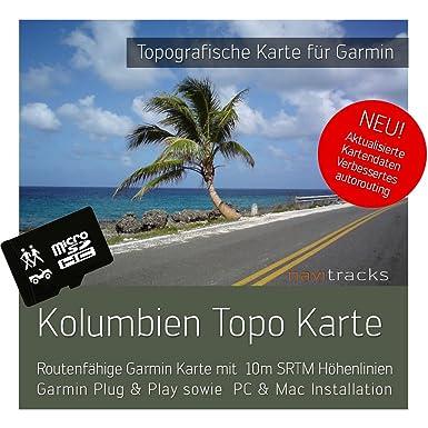 Colombia Garmin tarjeta Topo 4 GB MicroSD. Mapa Topográfico ...