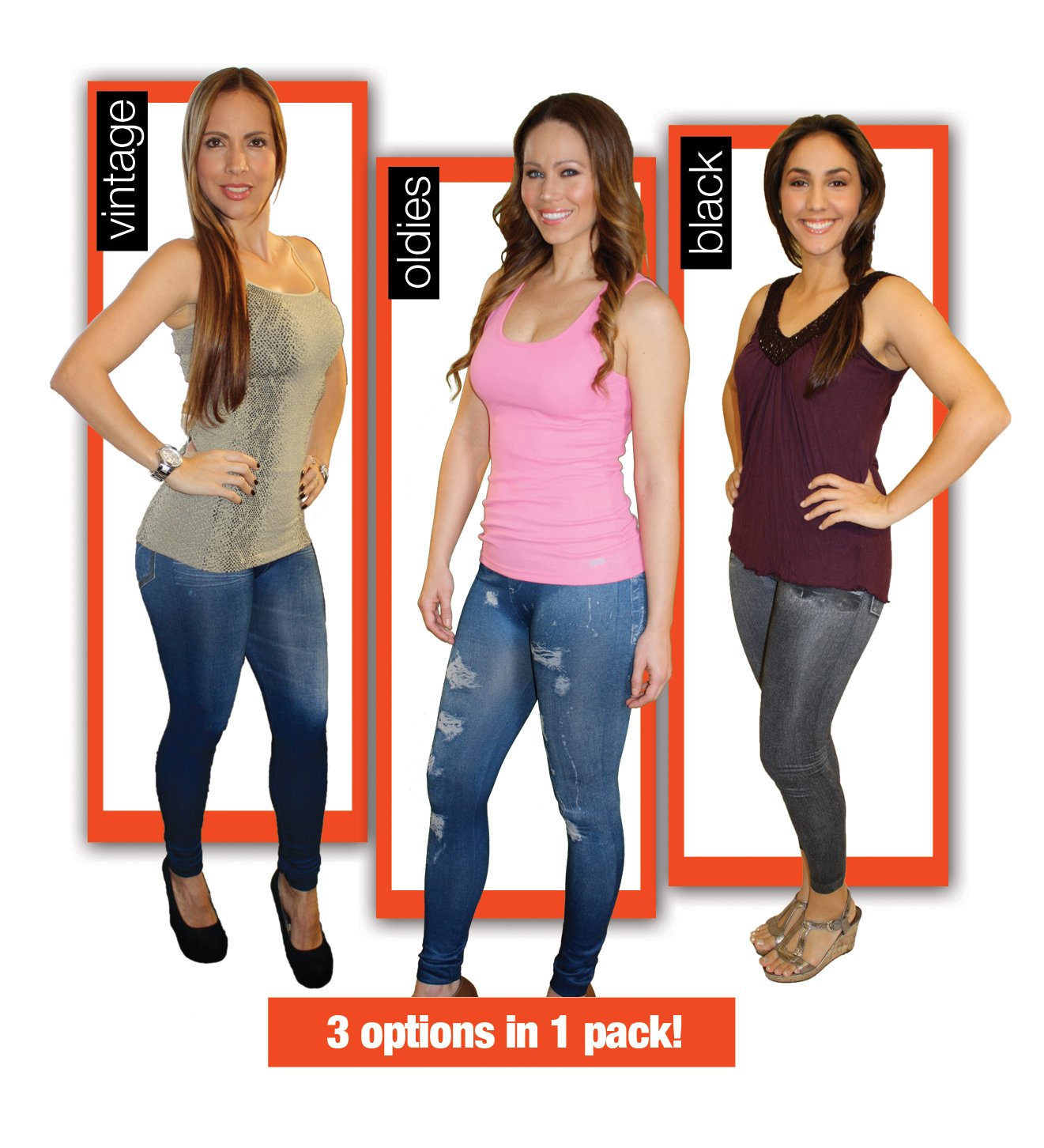 LeJeans As Seen On TV - The Comfort of Leggings with The Style of Jeans (S/M)