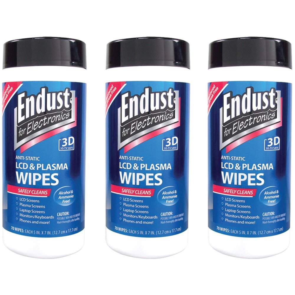 3 Pack Endust 11506 Lcd & Plasma Monitor Cleaner Pop-up Wipes electronic consumer Electronics by Endust