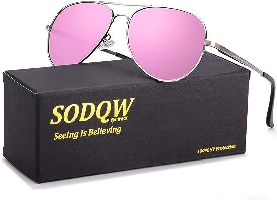 Womens Large Flat lens Fashion Sunglasses UV400 Protection