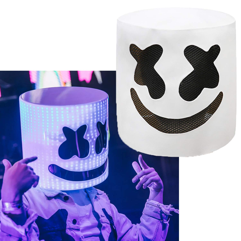 DJ Marshmello Mask Head Helmet Halloween Prop Cosplay Concert Music Fans Props Green