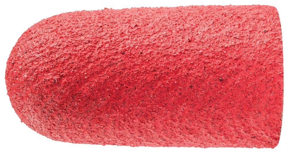 Ceramic Oxide Grain CO-Cool PFERD 46150 Policap Abrasive Cap Shape L 120 Grit 5//8 Diameter x 1-1//4 Length Pack of 50