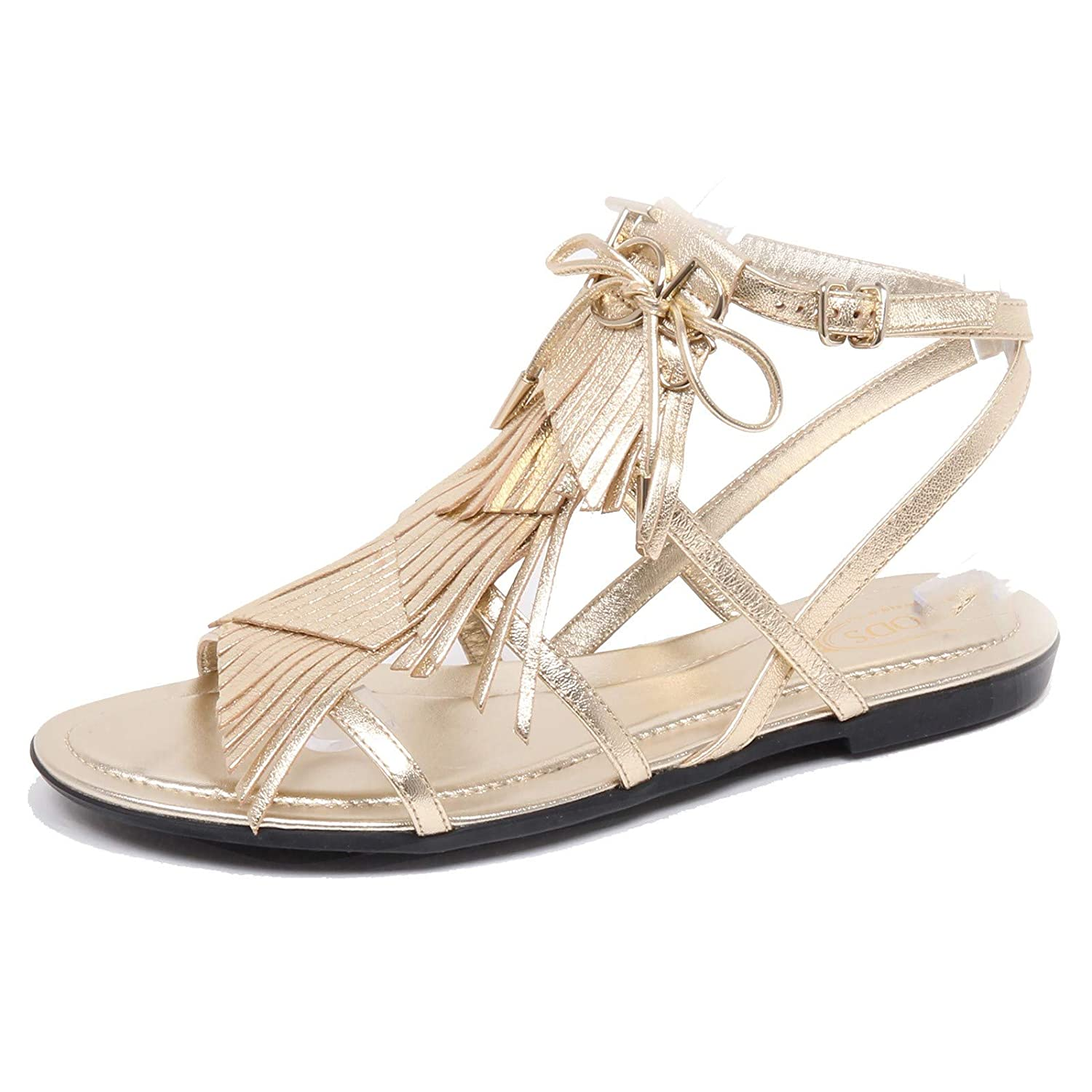Tod's F3188 Sandalo damen Light Gold schuhe Sandal schuhe Woman  | Vogue