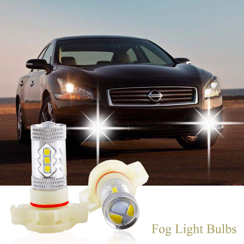 2x 2800lm HB4 9006 LED DRL Driving Fog Light Bulb 144 Piece SMD White car lamp d