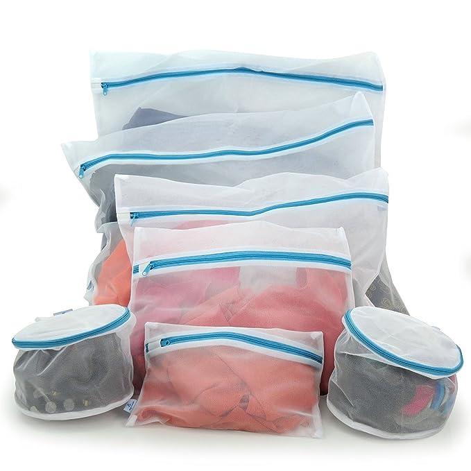 Hangerworld 7 Bolsas de Red para Lavadora y Secadora en Diferentes Tamaños Cierre con Cremallera: Amazon.es: Hogar
