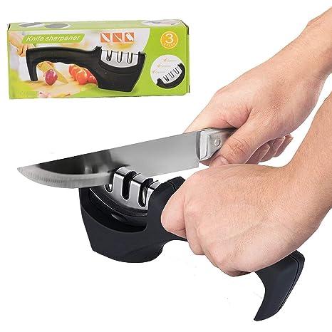 Afilador de cuchillos de cocina Herramienta de 3 etapas Kit ...