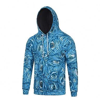Crochi Fashion Women/Men Unisex 3D Hoodies Sweatshirt Blue Eyes Hoodies Full Printed Hip Hop Coat Tops Sweatshirts at Amazon Womens Clothing store:
