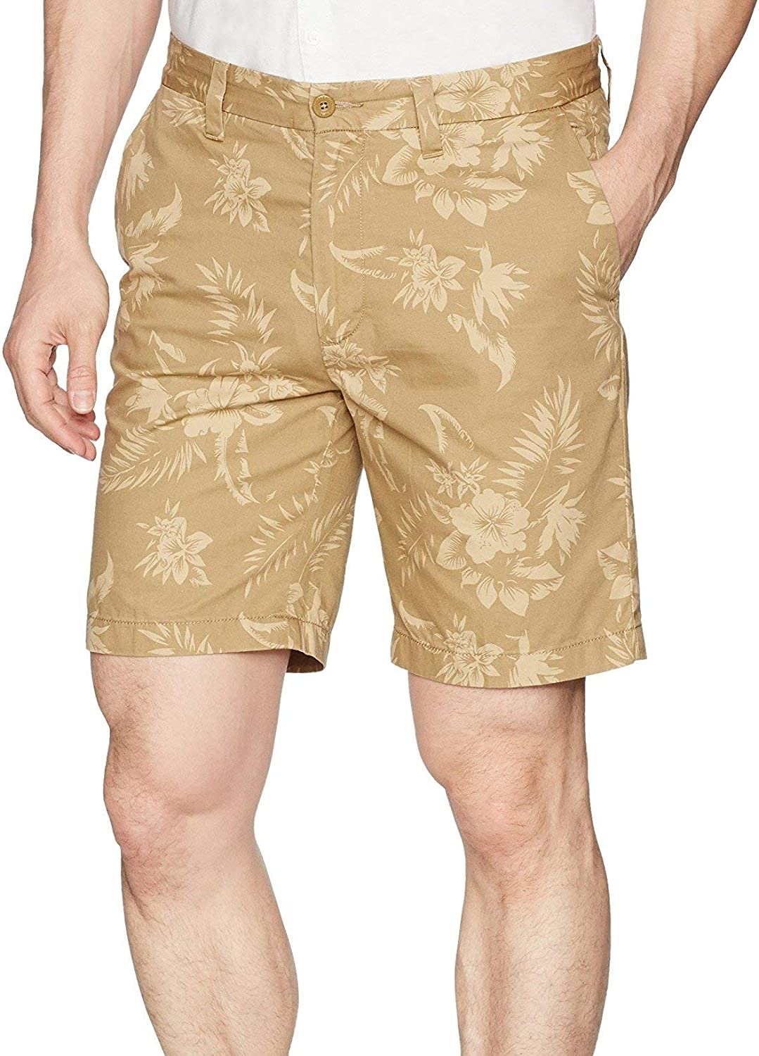 Nautica Printed Classic Fit Flat Front Short