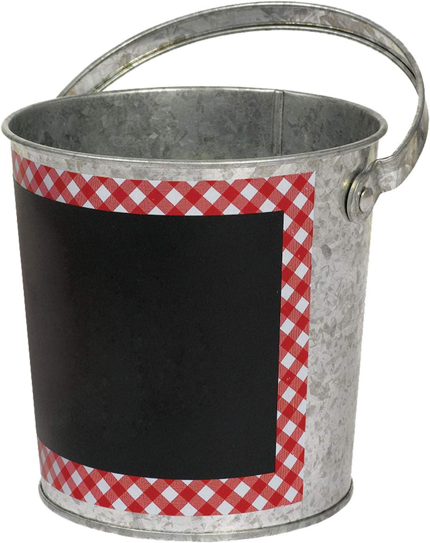 "Amscan 130122 Picnic Party Chalkboard Bucket, 4.75"", 1 piece"
