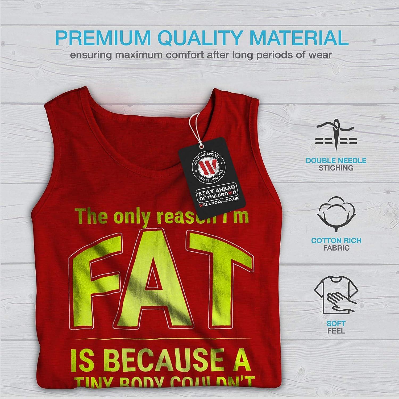 Personality Active Sports Shirt Wellcoda Funny Fat Happy Mens Tank Top