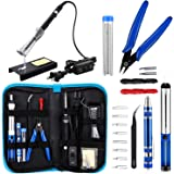 Anbes Soldering Iron Kit, Upgraded 60W Adjustable Temperature Welding Tool with ON-OFF Switch, 8-in-1 Screwdrivers, 2pcs Sold