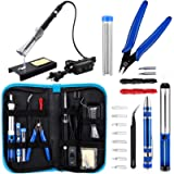 Anbes Soldering Iron Kit, Upgraded 60W Adjustable Temperature Welding Tool with ON-OFF Switch, 8-in-1 Screwdrivers, 2pcs…