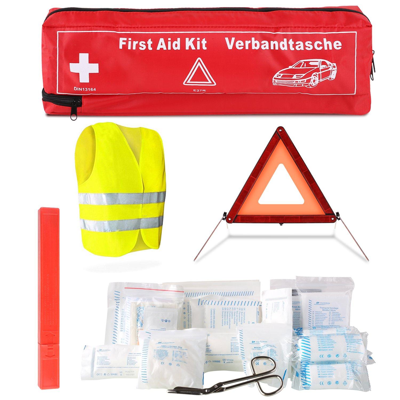 FEMOR Erste Hilfe Set 41PCS Auto Notfall Kit, Medizinische Tasche Reise Notfall Tasche First Aid Kit