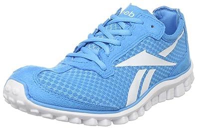 huge selection of d9753 5ce66 Reebok Women s Realflex Runner Running Shoe,Blue Blink White,5 ...
