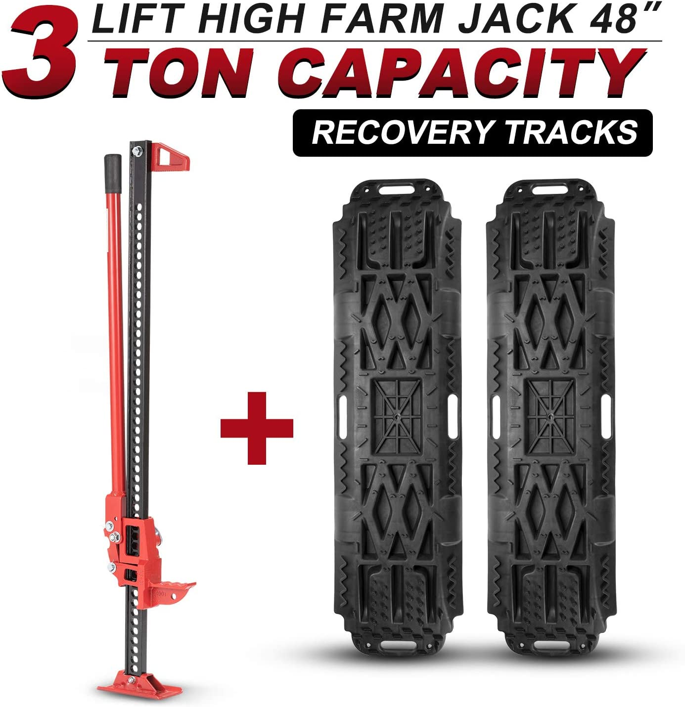 A Must Have Accessory for Hi Lift Jack and Farm Jack Base with 7/'/' x 4/'/' to Keep from Sinking The Jack into The Ground Lifting Jack Off Road Base//Stabilizer Made with Heavy-Duty Plastic to Last
