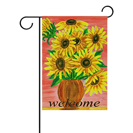Exceptionnel WXLIFE Welcome Flower Sunflower Garden Flag 28 X 40 Inches, Double Sided  Outdoor Yard Yall