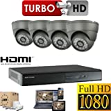 HIKVISION CCTV SYSTEM 1080P FULL HD KIT PACKAGE INC 1TB HDD 4X SECURITY CAMERA OUTDOOR 2.4 MEGA PIXEL DOME 4CH DVR HDMI P2P