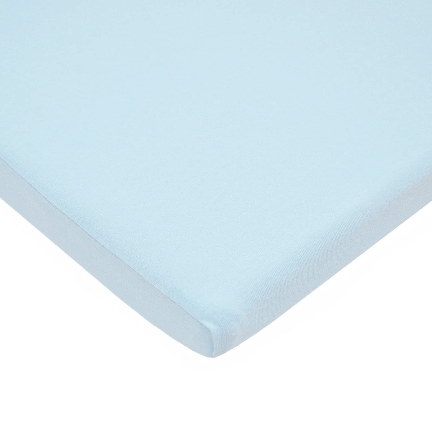 B000BPOIRU American Baby Company 100% Natural Cotton Supreme Jersey Knit Fitted Cradle Sheet, Blue, Soft Breathable, for Boys and Girls 71mV92B0pv5L