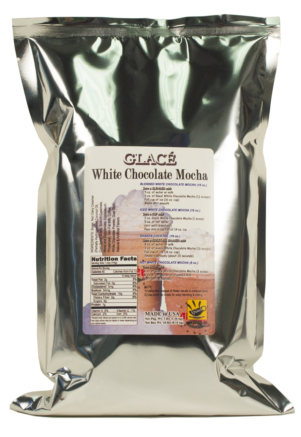 Glace White Chocolate Mocha (3-lb pack) by Unknown