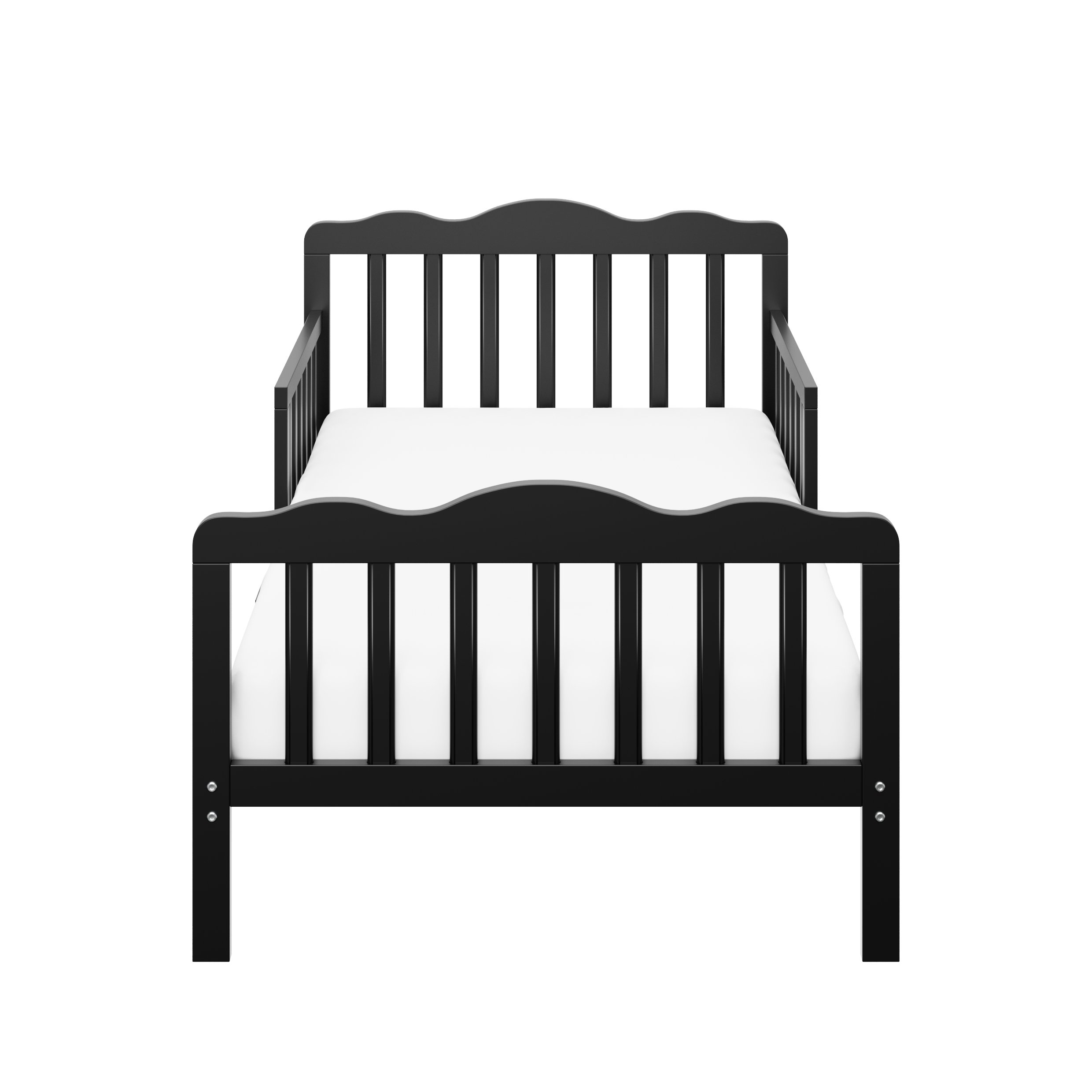 Storkcraft Hillside Toddler Bed Black, Fits Standard-Size Toddler Mattress (Not Included), Guardrails on Both Sides, Meets or Exceeds All Federal Safety Standards, Pine & Composite Construction by Stork Craft (Image #2)