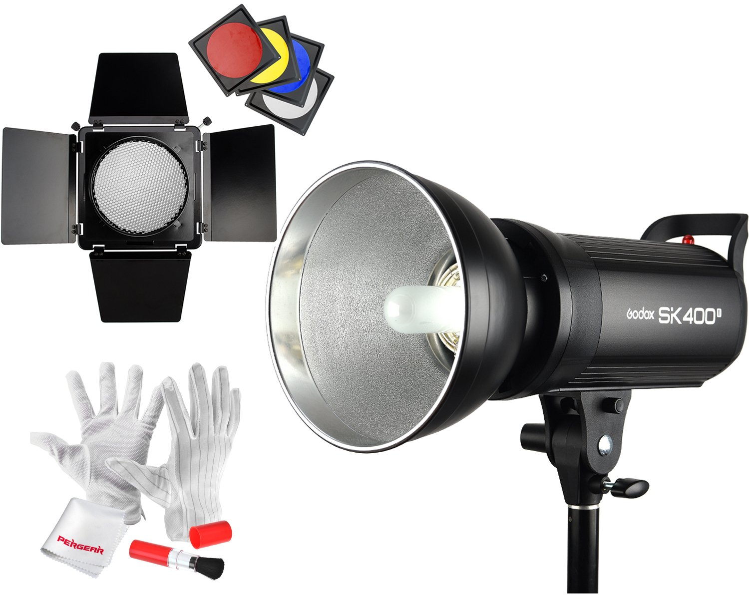 Godox SK400II Studio Strobe 400Ws GN65 5600K Bowens Mount Monolight, Built-in Godox 2.4G Wireless System, 150W Modeling Lamp, Outstanding Output Stability, Anti-Preflash, 1/16-1/1 40 Steps Output by Godox