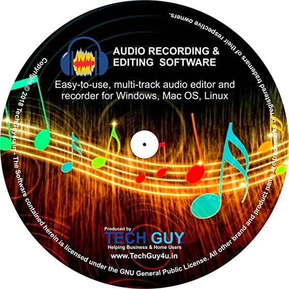 TechGuy4u Audio Recorder and Editor - Your professional